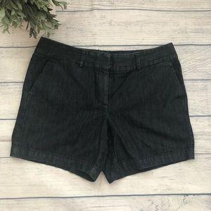 Loft Dark Wash Denim Shorts